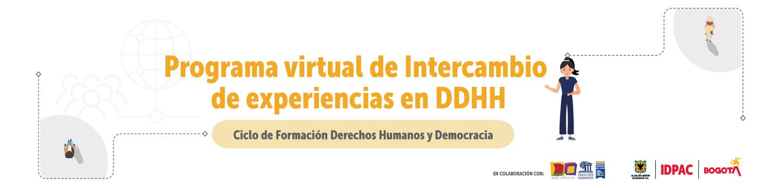 Programa virtual de Intercambios y Experiencias en DDHH